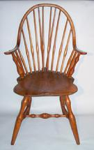 MS16 18th century New England  Continues Arm Windsor Chair