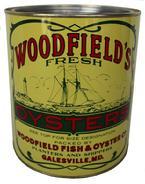 B129 Woodfield's Oysters  ( Woodfield Fish and Oyster Co) Galesville Md. condition mvery good