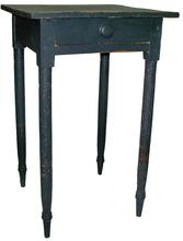 T232 Late 19th century one drawer Stand, with original black paint
