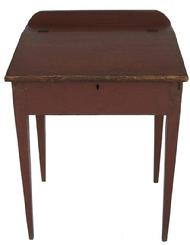 J953 Mid 19th century Hepplewhite slant front Desk with original red paint