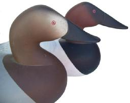 Q313 Pair of Canvasback carver Charles Bryan 1985 signed and dated, great condition