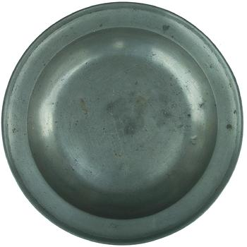 Y179  This fine condition pewter soup plate was made by the firm of Townsend and Compton circa 1784-1806