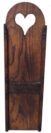 A244  19th century Slawboard ca. 1840; chestnut example with a tombstone crest,