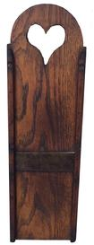 A244  19th century Slawboard ca. 1840; chestnut example with a tombstone crest, 18 1/4�x 5 1/2�;