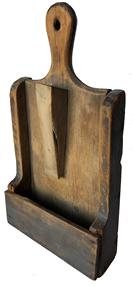E463 Late19th Century Wall Scouring box . Simple yet successful country construction; original paint and good patina