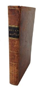 "A203 Early 19th Century leather book ""The Human Body The Anatomy""  by John Bell 1822 from the estate of a small town Maryland Doctor. measures 8 1/2"" tall 5 1/2"" wide"