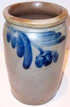 "Philadelphia crock jar 10 1/2"" tall"