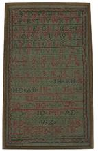 "X15 Early 19th century Sampler from a Estate sale in Frederick Maryland in March 1991. Done by Alison Duncan  10 3/8"" wide x 17 3/8"" tall"