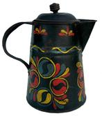 LL21 Pennsylvania, 19th century paint decorated toleware small Coffee Pot