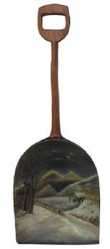 A333 19th Century  Painted wooden  Shovel.