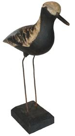"RM350 Black bellied Plover, by Reggie Birch, Chincotegue Virginia, the Shore Bird has  metal legs mounted in stand 12"" tall"