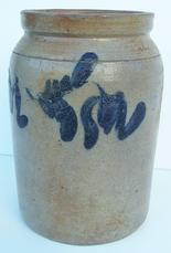 U182 Cobalt decorated stoneware Jar attributed to Peter Herman