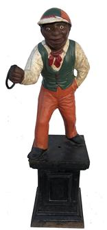 E200   Late 19th century   American lawn jockey portraying Jocko Graves,