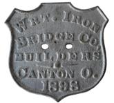 B368 19th century Plate from a bridge in Kent County Maryland dated 1898 from a bridge in Still Pound Creek.The bridge was in use until the Mid- 1950's  the plate was found in the creek and presented to Historical Society of Kent County in 1963