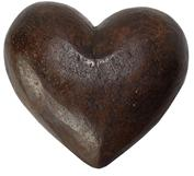 C88 19th century hand carved wooden Heart paper mache mold,