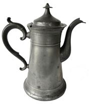 E72 The first half of the nineteenth century.Thomas D. Boardman fPewter Tea pot Hartford Ct.