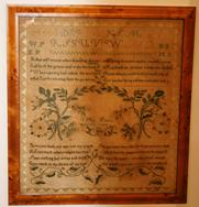 R250 Sampler made by Mary Poole 1809