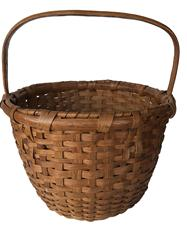 "E37 Early 20th century Eastern Shore Maryland Basket very well made,heavy construction, tight and sturdy, in old natural patina reinforced bottom with a well wrapped rim, wonderful condition Measurements are 17"" tall x 15"" wide"