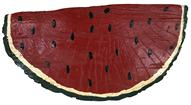 "Mid 20th century Wooden Folk Art watermelon slice from Delmar Delaware, outstanding paint form and shape. measurements: 10"" long 4"" wide 5"" tall."