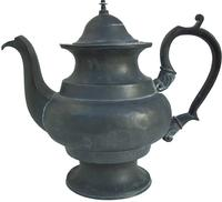 T25 American Pewter Coffee Pot signed buy the maker Richardson of Boston Ma. 1820-30