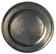 "E96 18th century Pewter Charger made by Robert Bush This single reed export pewter plate was produced by Robert Bush & Co a firm involving Robert Bush I beginning operations around 1793. Bush Senior continued working until around 1800. 13 1/2"" diameter"