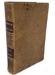 "A209 Early leather book ""The History of Great Britian"" dated 1841 measures: 9 1/2"" tall 6' wide"
