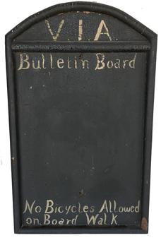 Rare, early 20th Century Rehoboth Beach Delaware Boardwalk Bulletin Board / Trade Sign
