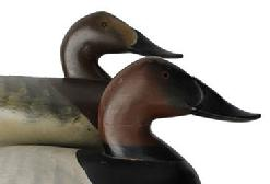 C52 Outstanding Pair of Charlie Joiner 1951 Chestertown Maryland ,signed and dated by Charlie Joiner, in original paint, , the decoy was shoot over, , this is one of Mr Joiner's earliest Decoys, very hard to find, from the collection of P. R. Loder.