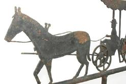 V257 Horse and Buggy Weathervane