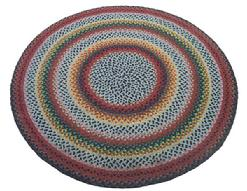 "X557 Pennsylvania round  Hand made Braided Rug,  wonderful colors, great condition outstanding workmanship, this rug is all hand braided and not stitched together, Measurements are"" 61"" diameter"
