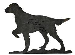C166 Tin Bird Dog silhouette made by Henry Fleckenstein SR. circa 1950 with personalized not by Henry Fleckenstein