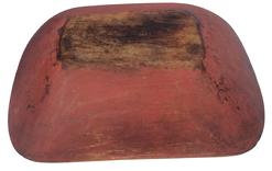 C423 19th century New England Trencher with beautiful original red  paint, Trencher,/Chopping Bowl, Maple A terrific example of great  proportion, great color! good condition