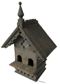 D502 Rarely encountered Folk Art Bird House Dorchester County, Maryland, Circa 1885, from the Richerson collection,