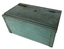 F203 19th century Document Box with the original paint, hinged lid, nail construction case, Measurements are: