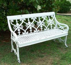 LL151 Early 20th century Iron Garden Benches