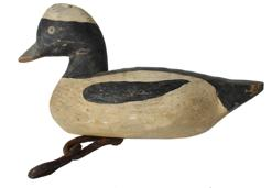 "B9 Mid 20th century miniature Mallard Drake Decoy , original paint, carver unknown. 1950's mesurments are 7"" long x 3"" tall"