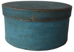 D219 19th century Fantastic original blue painted Pantry Box from New England.Great form and surface.The condition is very good