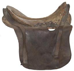 RM77 Civil War M-1859 McClellen Cavlary Saddle A true Civil War Issue with rawhide seat