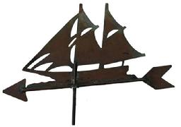 V425  Ship Weather-vane all copper, from Eastern Shore Maryland  19' long x 13 1/2' tall