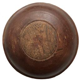 F10 18th century Treen Bowl, original dry surface, showing great lathe turnings, with a lip edge and nice and clean interior, out of round, New England, Overall good condition from 200+ years of use. Measurements: 17 1/2� diameter 4 1/4 � tall
