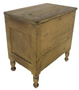 D465 Early 19th century Tennessee Sheraton sugar chest, from Franklin Tennessee  circa 1820 1830 the wood is poplar with  post construction,