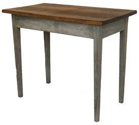 "D515 Late 18th century Carolina Co Eastern Shore Maryland hepplewhite Work Table circa 1790 in the original dry gray painted surface. Measurements are  35 1/4"" long x 25"" deep x 29"" tall"