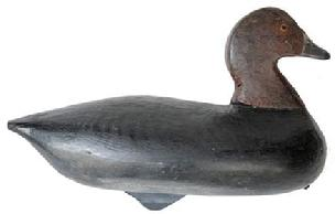 RM988 Rare North Carolina Redhead Decoy made by Malachi Waterfield was born in 1832- 1916 and was a Civil War Confederate These decoys were used during his market hunting days.