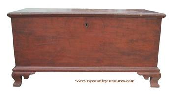 T310 Pennsylvania 18th Century paint decorated Blanket Chest,circa 1780 -1790