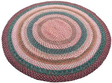 D275 Early 20th century hand made  Large braided rug, in very good condition  great colors