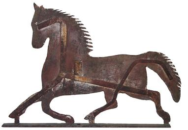 X53 19th century sheet iron full body horse weathervane in running position  with great paint history,original condition