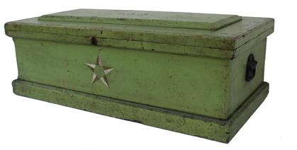 C175 Carpenter Tool Chest with the original apple green paint, with star decorations, from a collection in Chesapeake City MD