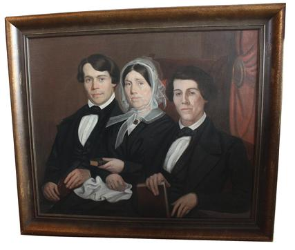 D45 Pennsylvania portrait of Rhoda Stevenson Buchanan  with her two Sons, she was the wife of Andrew Buchanan, Member of the U.S. House of Representatives, from Pennsylvania�s 20th district. He was in office March 4, 1835 �March 4 1839