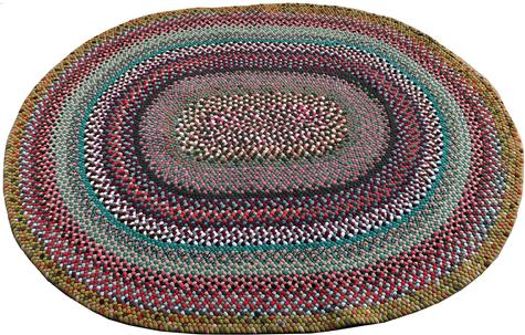 "D273 20th century Pennsylvania hand made Braided Rug, great condition and wonderful colors it measures , 5'10"" x 4'10"""